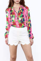 Macbeth Collection Tropical Pineapple Blouse