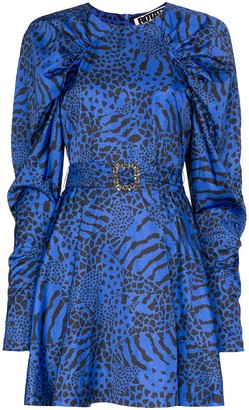 Rotate by Birger Christensen Tara animal print mini dress