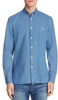 Barney Cools Chambray Regular Fit Button-Down Shirt