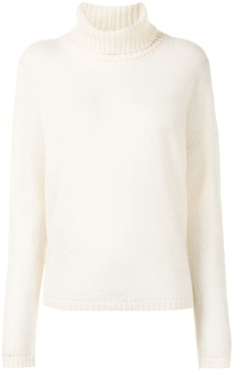 Majestic Filatures Roll-Neck Knitted Jumper