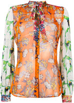Tory Burch multi-print shirt - women - Silk - 2