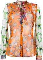 Tory Burch multi-print shirt - women - Silk - 6