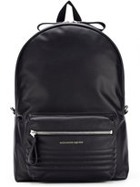 Alexander McQueen ribbed panel backpack - men - Leather - One Size