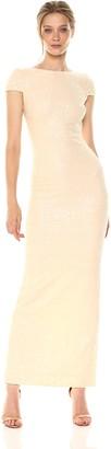 Dress the Population Women's Teresa Sequin Cap Sleeve Scoop Back Column Gown
