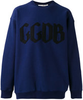 Golden Goose Deluxe Brand logo print sweatshirt - men - Cotton/Nylon - XS