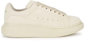 Alexander McQueen Larry Cream Suede Sneakers