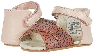 Robeez Riley First Kicks (Infant) (Baked Clay Dot/Pink) Girls Shoes