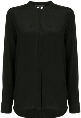 BCBGMAXAZRIA Long-Sleeve Collarless Blouse