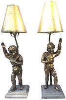 One Kings Lane Vintage,  Lamp, Gold/gray, In Stock