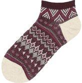 Uniqlo Women Short Socks (Fair Isle)