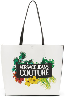 Versace Reversible White Tropical Tote