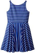 Polo Ralph Lauren Yarn-Dyed Cotton Sateen Stripe Dress (Big Kids)