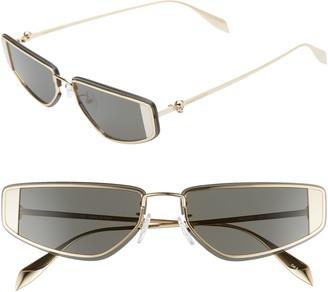 Alexander McQueen 66mm Oversize Rectangular Sport Sunglasses