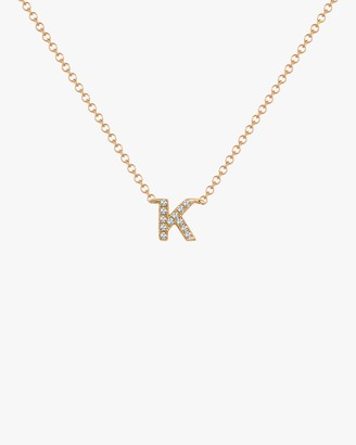 Ef Collection Diamond 'K' Initial Pendant Necklace