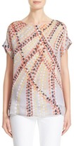 Lafayette 148 New York Women's Lori Dot Print Silk Blouse
