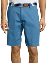USPA U.S. Polo Assn. Belted Twill Flat-Front Shorts