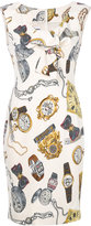 Moschino clock print dress