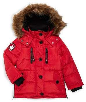 Canada Weather Gear Little Girl's Faux Fur-Trim Coat