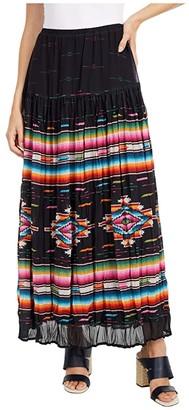 Double D Ranchwear Bakersfield Blanket Serape Skirt (Multi) Women's Skirt