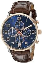 Akribos XXIV Men's AK854RGBR Round Blue Dial Chronograph Quartz Two Tone Strap Watch