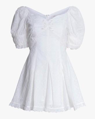Divine Heritage Off-Shoulder Mini Dress