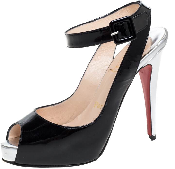 Details about  /Womens Ladies Stiletto Heels Cross Strappy Slingback Peep Toe Sandals Shoes Size