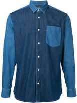 Cerruti patchwork denim shirt