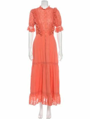 Ulla Johnson Mock Neck Long Dress Pink
