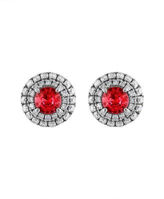 Heritage 18K 1.32 Ct. Tw. Diamond & Ruby Earrings