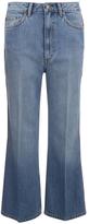 Marc by Marc Jacobs Women's Wide Leg Denim Trousers Crop Blue