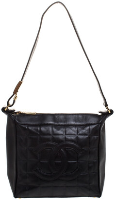 Chanel Black Leather Small Chocolate Bar Shoulder Bag
