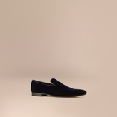 Burberry Velvet Loafers