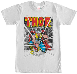 Fifth Sun Men's Tee Shirts WHITE - White 'Thor' Big Boom Tee - Men