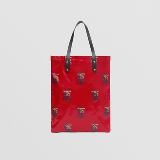 Burberry Monogram Motif Coated Canvas Tote Bag