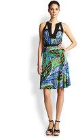 BCBGMAXAZRIA Lindy Cutout Printed Dress