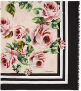 Dolce & Gabbana Pink Flower Scarf
