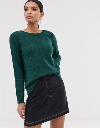 Vila open back knitted jumper