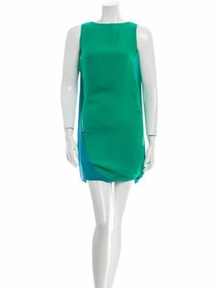 Halston Silk Dress green