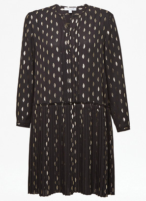 Great Plains Ada Dress In Black And Soft Gold - 8