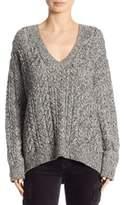Vince Braided V-Neck Sweater