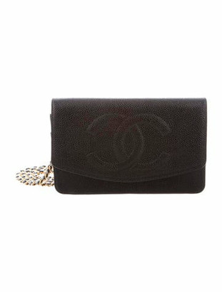 Chanel Vintage Timeless Wallet on Chain Navy
