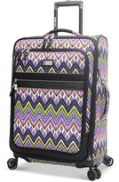 """Steve Madden Patchwork 25"""" Expandable Spinner Suitcase"""