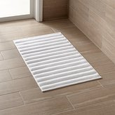 Crate & Barrel White Bath Mat