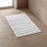 Crate & Barrel White Bath Mat