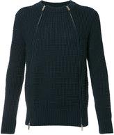 Sacai zipped sweater - men - Cotton/Acrylic - 1