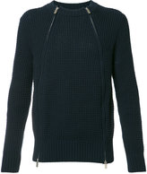 Sacai zipped sweater - men - Cotton/Acrylic - 2