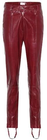 Magda Butrym Benson leather stirrup trousers