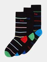 Burton Burton Pringle Branded 3 Pack Red Green And Blue Heeled Socks