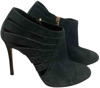 Gianvito Rossi Green Suede Ankle boots