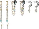 Accessorize 3x Rihad Chain Drop Earrings
